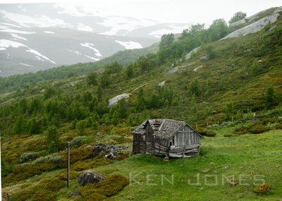 An abandoned wooden house, Skjolden, Norway.